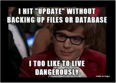 regular WordPress backups